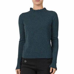 Margaret O'Leary Ruffle Mock Neck Cashmere Sweater